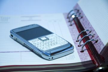 Phone on a datebook