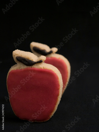 Two Apple Shaped Cookies