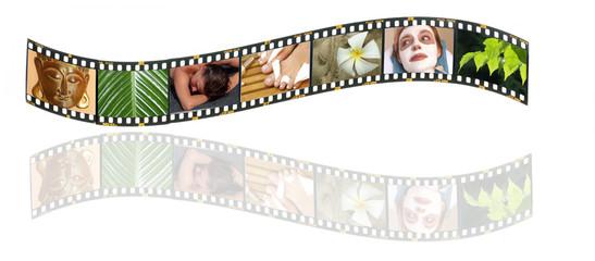 Filmstreifen mit Wellness-Motiven