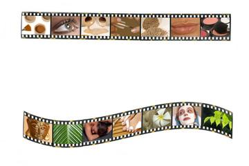 Filmstreifen mit Kosmetik-/ Wellness-Motiven