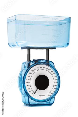 blue kitchen scales