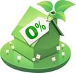 Maison verte et prêt à taux zéro (détouré)