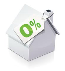 Maison et prêt à taux zéro (reflet)