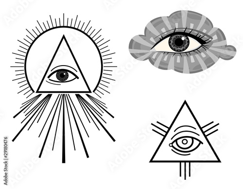 The All Seeing Eye - vector symbols