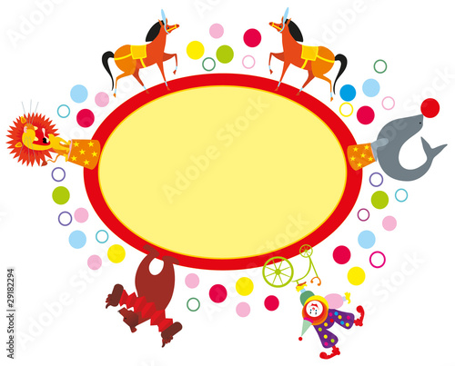 Vector illustration. Circus banner.