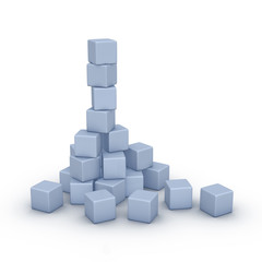 stack of cubes (building new business concept)