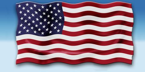 Bandera en el cielo de los EEUU