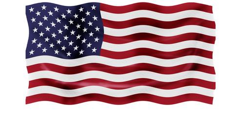 Bandera ondeante de los EEUU
