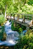 Landscape of a waterfall in Krka national park in Croatia