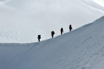Alpinism in Alps