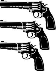 set of pistols. stencil