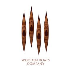 logo entreprise, canoë en bois