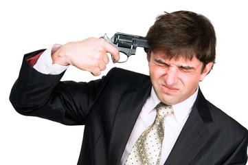 businessman at suicide