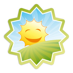 Bio Sticker - smiling sun
