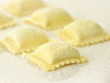Uncooked Ravioli close up