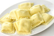 Ravioli pasta filled with  cheese