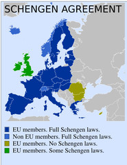 Schengen europeagreement euro eurozone law