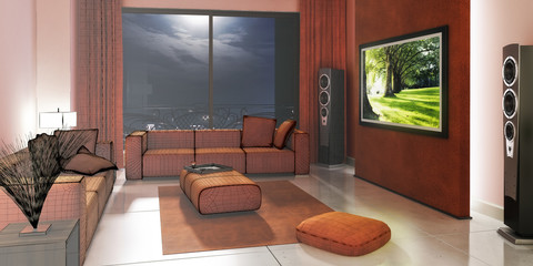 Gentle designed home cinema (3d)