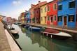 Burano, Venecia: casas y canales