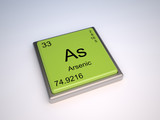 Arsenic chemical element of the periodic table with symbol As poster