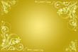 floral ocher artistic frame