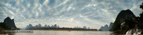Li river morning landscape
