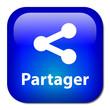 Bouton PARTAGER (internet web fichiers communauté réseau social)