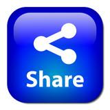 SHARE Button (social network internet web p2p more symbol sign)