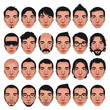 Avatar, men portraits. Vector isolated characters
