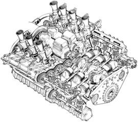 Motore d'epoca 1952