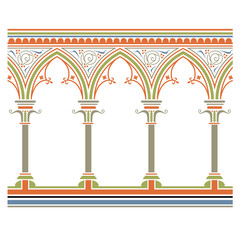 Arcade seamless pattern – in medieval style
