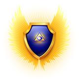 Shield. Eye of Providence. Vector. poster