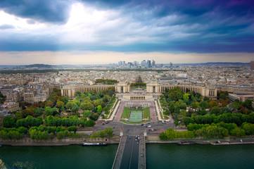 Trocadero and panorama of Paris