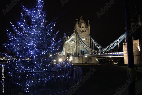 """Christmas tree at london tower bridge"" Stock photo and ..."