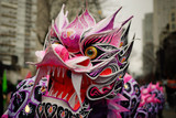 Nouvel an Chinois - Dragon rose