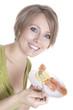 pregnant woman eats smoked salmon