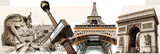 great Parisian landmarks - touristic collage
