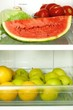 Refrigerator full with some kinds of food - fruits, vegetable