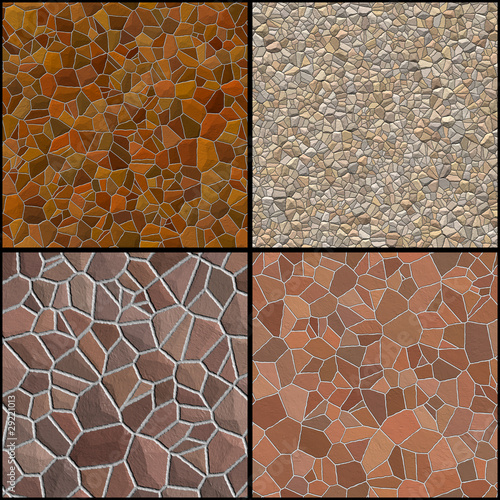 Collection of stone wall textures