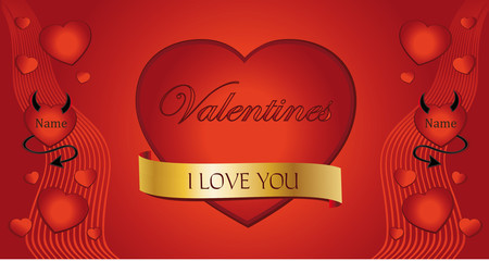 Heart Valentine Congratulations