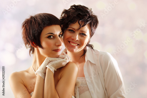 women couple happy