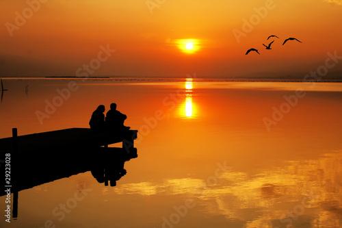 Deurstickers Pier El amor y el sol