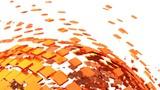 Fototapety 3D Background - Orange Cyberspace 01
