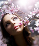 Fototapety Beautiful Girl with flower