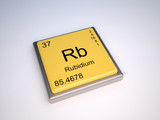 Rubidium chemical element of the periodic table with symbol Rb poster