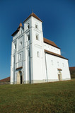 The church of Herina built in romanesque style, Romania poster