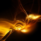 Abstract background with fiery shape