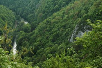 Deep valley. Vadu Crisului gorge, Transylvania, Romania