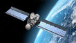 Leinwanddruck Bild - modern satellite