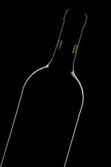 Weinflasche Umriß